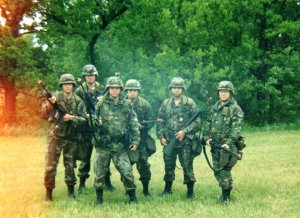 With some of my fellow medics at Ft. Sill, circa 1995. (L-R, Corey, Banks, me, JP (RIP), Bobby, and Devo.