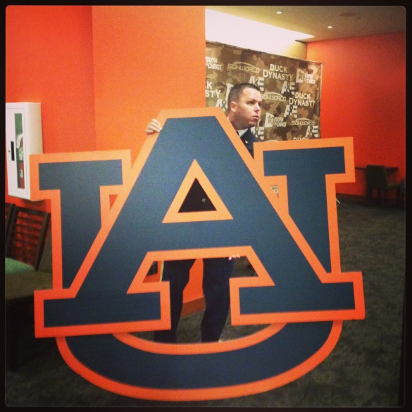 Trying to take a little Auburn home with me from the Auburn Arena.
