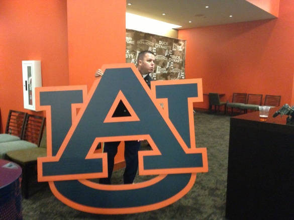 I tried swiping this from the Auburn Arena but it proved to be too big. I finally gave up.