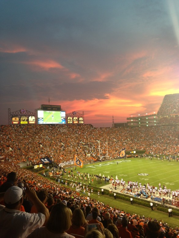 Jordan-Hare Stadium, Aug 31, 2013, Auburn vs Washington State