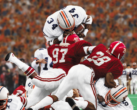 """Bo Over the Top"" from the '82 Iron Bowl (photo courtesy of yarbroughandassociates.com)"