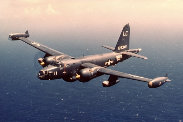 This is the P2V5F, one of the planes Husky flew in the Navy.