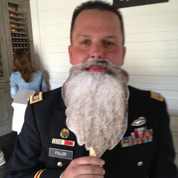 The Duck Dynasty beard conflicts with the uniform.