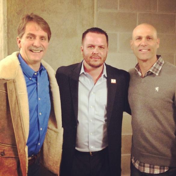 Jeff Foxworthy, me, Tim Hudson
