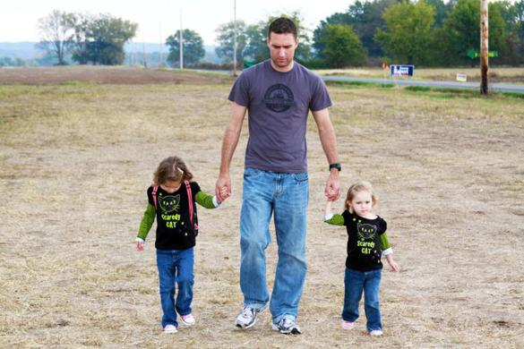 Wassom, a father of two daughters — Lorelei, 5, and Sydney, 7 — died Sunday sheltering his family from the tornado. Photo courtesy of the Wassom family.