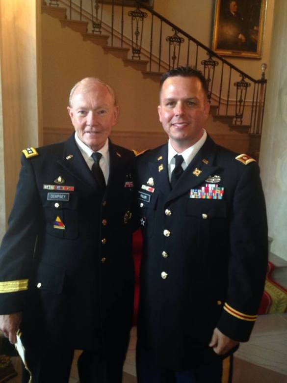 Me with the Joint Chiefs of Staff General Martin Dempsey