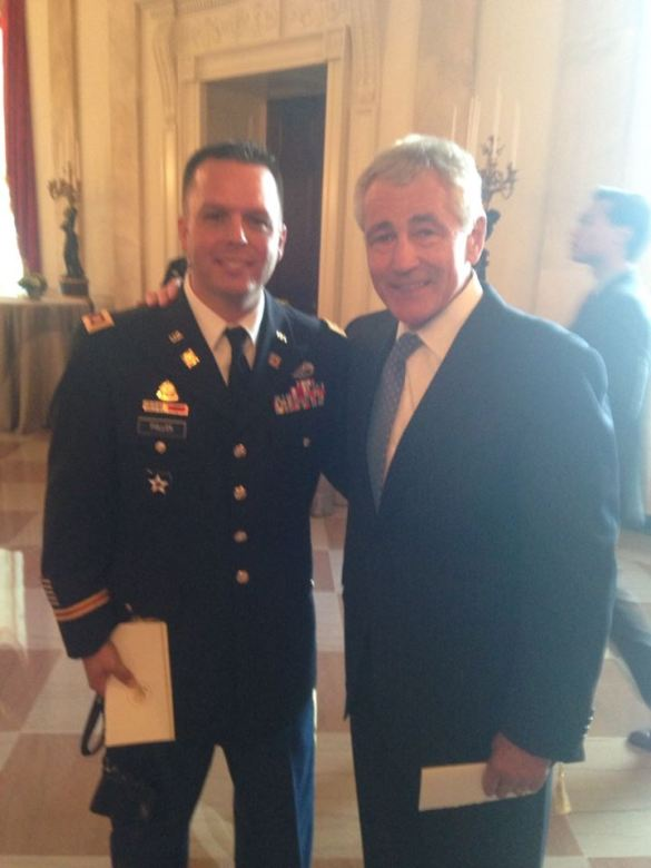 Me with Secretary of Defense Chuck Hagel