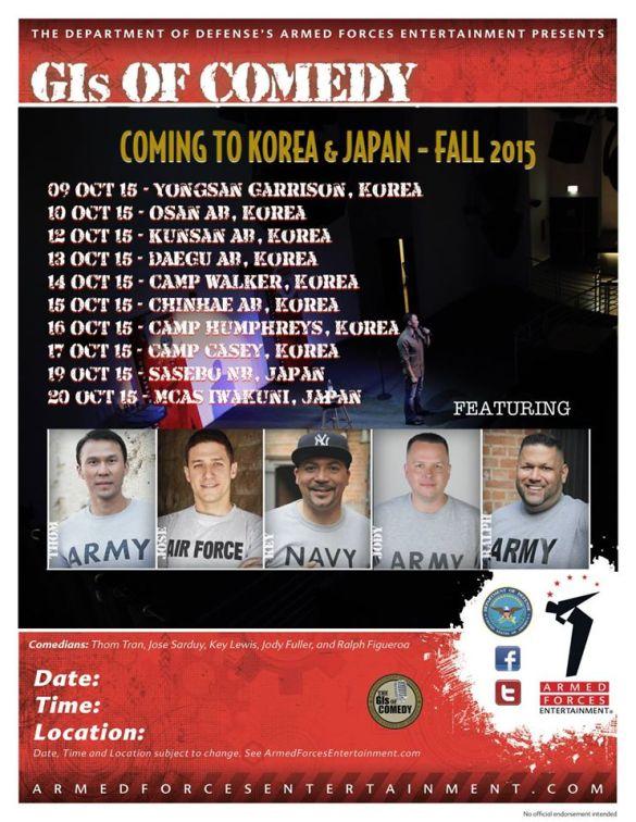 Korea / Japan tour schedule