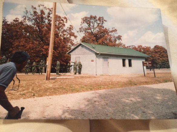 Picture of the actual gas chamber taken by my mother when they came up for graduation. Sorry, I was too lazy to get up to scan the pic, so I just took a photo of it.
